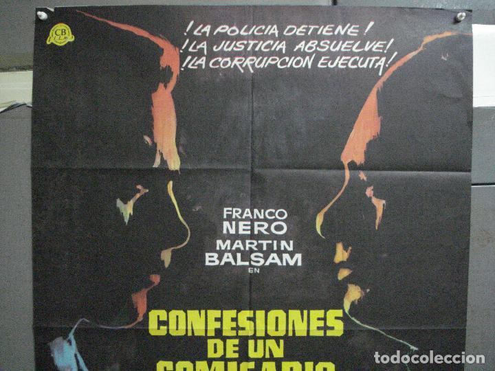 Cine: CDO 4609 CONFESIONES DE UN COMISARIO FRANCO NERO POSTER ORIGINAL ESTRENO 70X100 - Foto 2 - 212781182