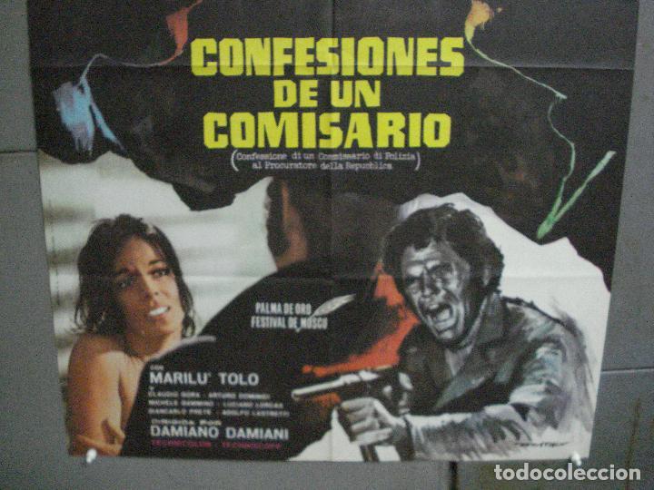 Cine: CDO 4609 CONFESIONES DE UN COMISARIO FRANCO NERO POSTER ORIGINAL ESTRENO 70X100 - Foto 3 - 212781182