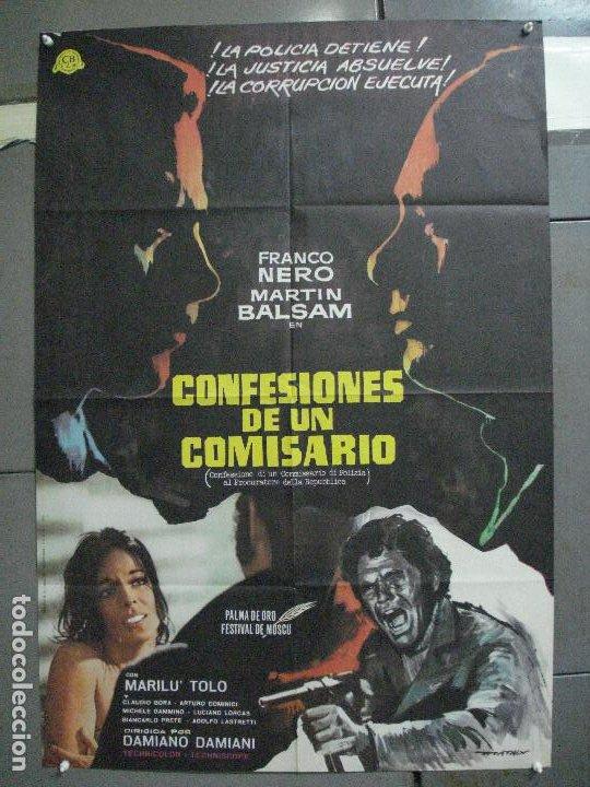 CDO 4609 CONFESIONES DE UN COMISARIO FRANCO NERO POSTER ORIGINAL ESTRENO 70X100 (Cine - Posters y Carteles - Suspense)