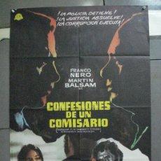 Cine: CDO 4609 CONFESIONES DE UN COMISARIO FRANCO NERO POSTER ORIGINAL ESTRENO 70X100. Lote 212781182