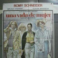 Cine: CDO 4620 UNA VIDA DE MUJER ROMY SCHNEIDER POSTER ORIGINAL 70X100 ESTRENO. Lote 212784903