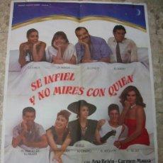 Cinéma: SE INFIEL Y NO MIRES CON QUIEN ANA BELEN CARMEN MAURA 1985 CARTEL DE CINE 100 X 70 CM. POSTER. Lote 212796177