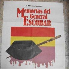 Cinema: MEMORIAS DEL GENERAL ESCOBAR 1984 ANTONIO FERRANDIS CARTEL DE CINE 100 X 70 CM. POSTER GUARDIA CIVIL. Lote 212838640
