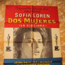 Cine: (CINE-32)DOS MUJERES SOFIA LOREN LA CIOCIARA POSTER ORIGINAL. Lote 212861481
