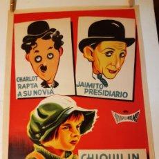 Cinema: CHARLOT- JAIMITO- CHIQUILIN ARTISTA DE CIRCO-CARTEL DE CINE ESPAÑOL ORIGINAL 1964 - 70 X 49 CM-RARO.. Lote 212908991