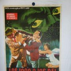 Cine: LOS MIL OJOS DEL DR. MABUSE - 110 X 75 - 1960 - LITOGRAFICO. Lote 212954246