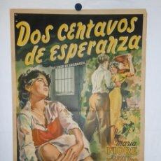 Cinema: DOS CENTAVOS DE ESPERANZA - 110 X 75 - 1952 - LITOGRAFICO. Lote 212955927