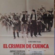 Cinéma: CARTEL CINE EL CRIMEN DE CUENCA AMPARO SOLER LEAL HECTOR ALTERIO 1980 A81. Lote 212980697