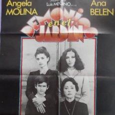 Cinéma: CARTEL CINE DEMONIOS EN EL JARDIN ANGELA MOLINA ANA BELEN 1982 A82. Lote 212981100