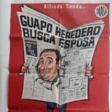Cinema: CARTEL CINE GUAPO HEREDERO BUSCA ESPOSA 1975 JANO C 619. Lote 212981961