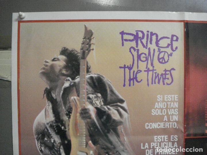 Cine: CDO 4654 THE SIGN O THE TIMES PRINCE POSTER ORIGINAL 70X100 ESTRENO - Foto 2 - 212989770