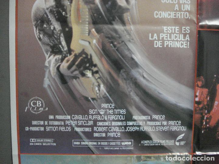 Cine: CDO 4654 THE SIGN O THE TIMES PRINCE POSTER ORIGINAL 70X100 ESTRENO - Foto 3 - 212989770