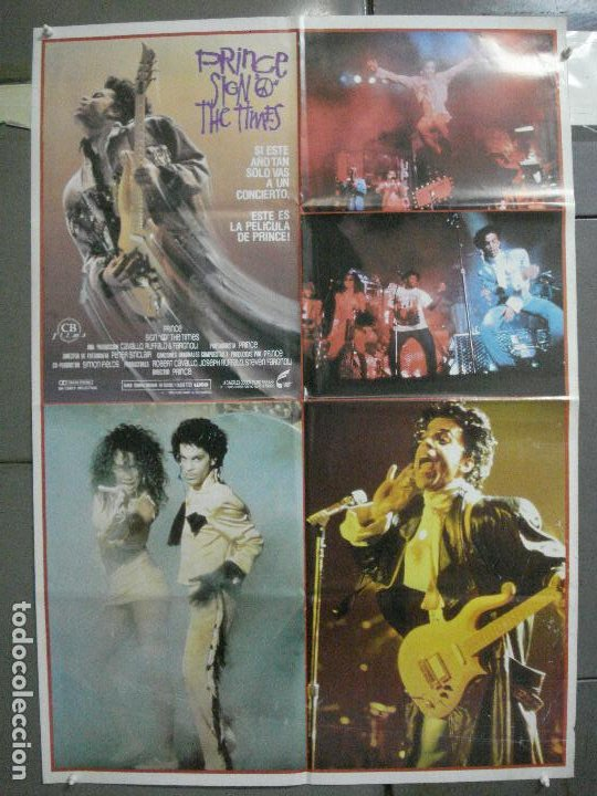 CDO 4654 THE SIGN 'O' THE TIMES PRINCE POSTER ORIGINAL 70X100 ESTRENO (Cine - Posters y Carteles - Musicales)