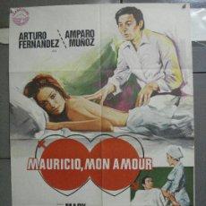 Cine: CDO 4663 MAURICIO MON AMOUR ARTURO FERNANDEZ AMPARO MUÑOZ MIRTA MILLER POSTER ORIGINAL 70X100 ESTREN. Lote 212994596