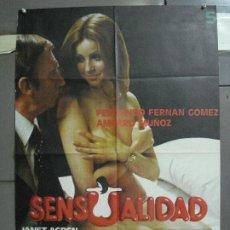 Cine: CDO 4676 SENSUALIDAD AMPARO MUÑOZ FERNANDO FERNAN GOMEZ PILAR VELAZQUEZ POSTER ORIG 70X100 ESTRENO. Lote 213005362