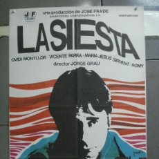 Cine: CDO 4677 LA SIESTA OVIDI MONTLLOR JORGE GRAU VICENTE PARRA POSTER ORIGINAL 70X100 ESTRENO. Lote 213006205