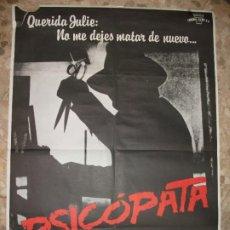 Cine: PSICOPATA AÑOS 80 CRISTOPHER LLOYD CARTEL DE CINE 100 X 70 CM. POSTER TERROR. Lote 213055770
