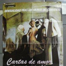 Cine: CDO 4698 CARTAS DE AMOR DE UNA MONJA PORTUGUESA JESUS FRANCO POSTER ORIGINAL ESTRENO 70X100. Lote 213073363
