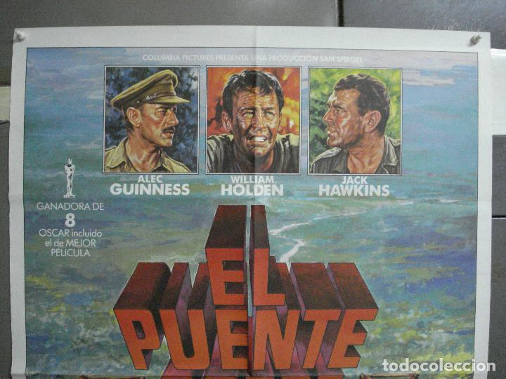 Cine: CDO 4700 EL PUENTE SOBRE EL RIO KWAI DAVID LEAN GUINNESS HOLDEN POSTER ORIG 70X100 ESPAÑOL R-80S - Foto 2 - 213073532