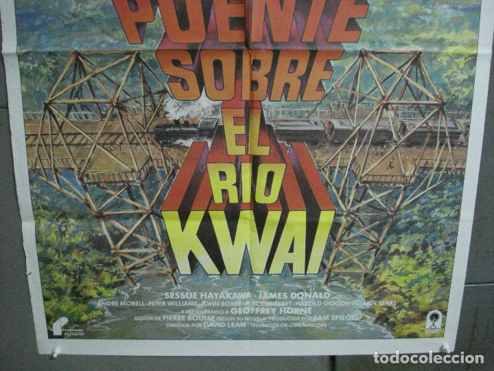 Cine: CDO 4700 EL PUENTE SOBRE EL RIO KWAI DAVID LEAN GUINNESS HOLDEN POSTER ORIG 70X100 ESPAÑOL R-80S - Foto 3 - 213073532