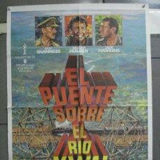Cine: CDO 4700 EL PUENTE SOBRE EL RIO KWAI DAVID LEAN GUINNESS HOLDEN POSTER ORIG 70X100 ESPAÑOL R-80'S. Lote 213073532