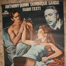 Cinema: LA HERENCIA FERRAMONTI 1977 ANTHONY QUINN DOMINIQUE SANDA CARTEL DE CINE 100 X 70 CM. POSTER. Lote 213092500