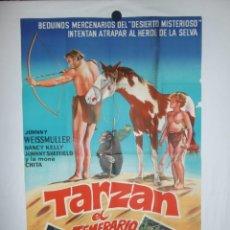 Cine: TARZAN EL TEMERARIO - 1943 - 110 X 75 - LITOGRAFICO. Lote 213131843