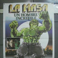 Cine: CDO 4755 LA MASA INCREIBLE HULK LOU FERRIGNO MARVEL COMICS POSTER ORIGINAL 70X100 ESTRENO. Lote 213154207