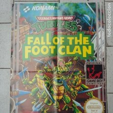 Cine: TORTUGAS NINJA FALL OF THE FOOD CLAN GAME BOY POSTER. Lote 213199703