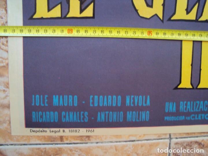 Cine: (CINE-254)EL GLADIADOR INVENCIBLE RICHARD HARRISON PEPLUM POSTER ORIGINAL - Foto 2 - 213247432
