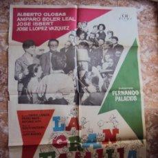 Cine: (CINE-248)LA GRAN FAMILIA ALBERTO CLOSAS JOSE ISBERT MAC POSTER ORIGINAL. Lote 213248280