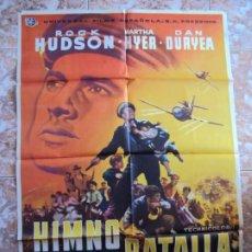 Cinéma: (CINE-240)HIMNO DE BATALLA ROCK HUDSON DAN DURYEA POSTER ORIGINAL. Lote 213256330