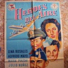 Cine: (CINE-237)HEROES DEL AIRE ALFREDO MAYO POSTER ORIGINAL. Lote 213257055