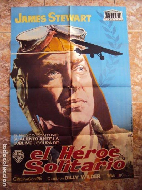 (CINE-236)POSTER ORIGINAL EL HEROE SOLITARIO (JAMES STEWART) (Cine - Posters y Carteles - Aventura)