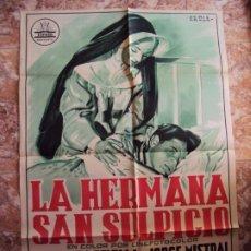 Cine: (CINE-235) LA HERMANA SAN SULPICIO CARMEN SEVILLA POSTER ORIGINAL. Lote 213257535