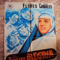 Cine: (CINE-234)LA HERMANA ALEGRIA LOLA FLORES POSTER ORIGINAL ESTRENO. Lote 213257710