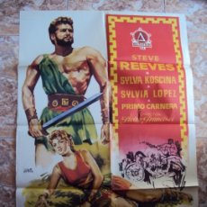 Cine: (CINE-233)HERCULES Y LA REINA DE LIDIA STEVE REEVES PEPLUM JANO POSTER ORIGINAL. Lote 213257933