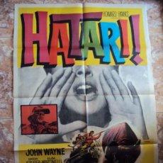 Cine: (CINE-231)HATARI. JOHN WAYNE. CARTEL ORIGINAL 1962. Lote 213258440