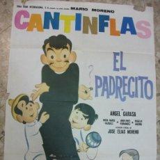 Cinema: EL PADRECITO CANTINFLAS AÑOS 80 ANGEL GARASA CARTEL DE CINE 100 X 70 CM. POSTER. Lote 213274160