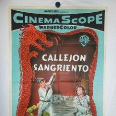 Cine: CALLEJON SANGRIENTO - JOHN WAYNE - 110 X 75 CM - LITOGRAFICO. Lote 213300658