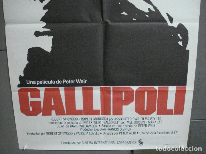 Cine: CDO 4819 GALLIPOLI MEL GIBSON PETER WEIR POSTER ORIGINAL 70X100 ESTRENO - Foto 3 - 213321588
