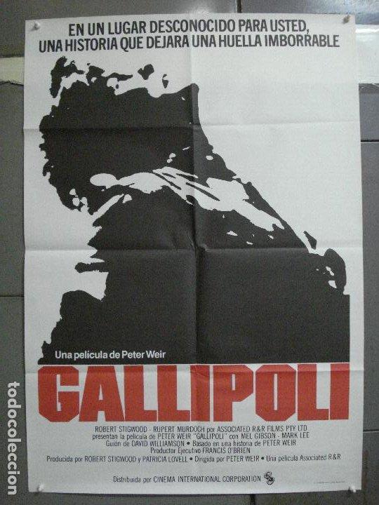 CDO 4819 GALLIPOLI MEL GIBSON PETER WEIR POSTER ORIGINAL 70X100 ESTRENO (Cine - Posters y Carteles - Bélicas)