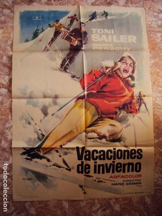 (CINE-211)VACACIONES DE INVIERNO TONI SAILER MARIA PERSCHY ESQUI MAC POSTER ORIGINAL (Cine - Posters y Carteles - Aventura)