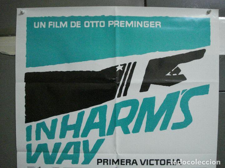 Cine: CDO 4820 PRIMERA VICTORIA JOHN WAYNE OTTO PREMINGER POSTER ORIGINAL 70X100 ESPAÑOL - Foto 2 - 213330161