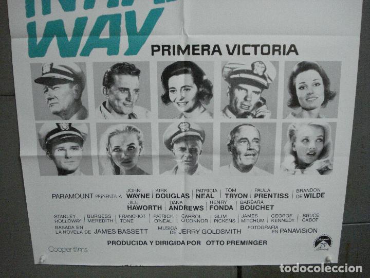 Cine: CDO 4820 PRIMERA VICTORIA JOHN WAYNE OTTO PREMINGER POSTER ORIGINAL 70X100 ESPAÑOL - Foto 3 - 213330161