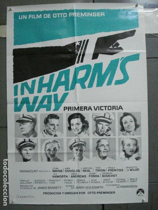 CDO 4820 PRIMERA VICTORIA JOHN WAYNE OTTO PREMINGER POSTER ORIGINAL 70X100 ESPAÑOL (Cine - Posters y Carteles - Bélicas)