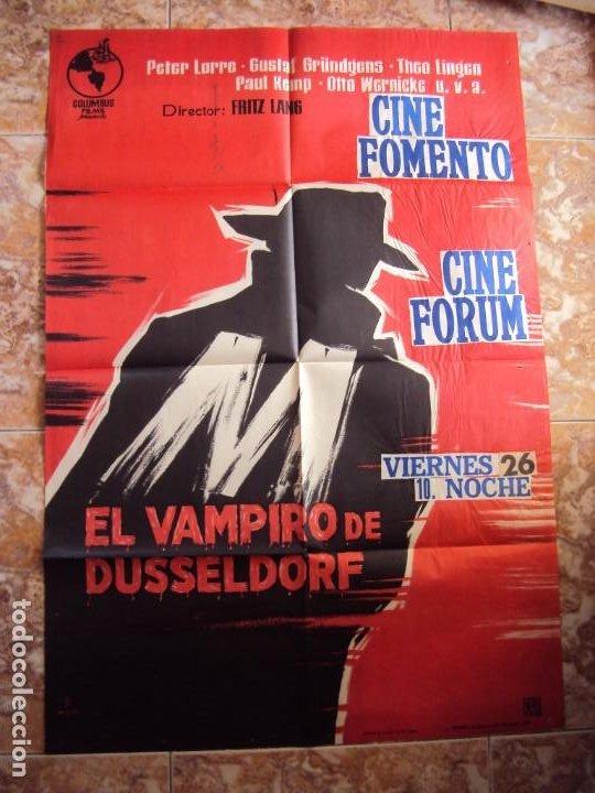 (CINE-195)EL VAMPIRO DE DUSSELDORF. PETER LORRE, GUSTAF GRÜNDGENS. AÑO 1962 (Cine - Posters y Carteles - Terror)
