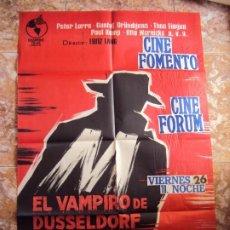 Cine: (CINE-195)EL VAMPIRO DE DUSSELDORF. PETER LORRE, GUSTAF GRÜNDGENS. AÑO 1962. Lote 213331313