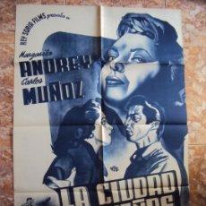 Cine: (CINE-191)POSTER ORIGINAL LA CIUDAD DE LOS SUEÑOS, MARGARITA ANDREY. Lote 213332138