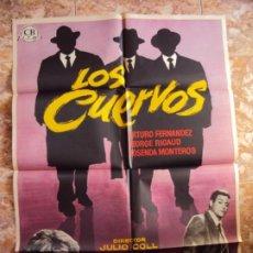Cine: (CINE-189)LOS CUERVOS 1962 CARTEL ORIGINAL ESTRENO DISEÑO MAC DIFICIL ARTURO FERNANDEZ. Lote 213332530